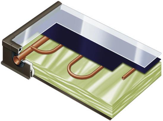 плоский солнечный коллектор конструкция