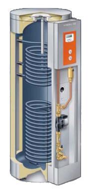 Vitocell-100-U  - работающий от двух источников тепла емкостной водонагреватель