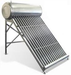 солнечная энергия, горячая вода, солнечный коллектор для горячей воды с баком