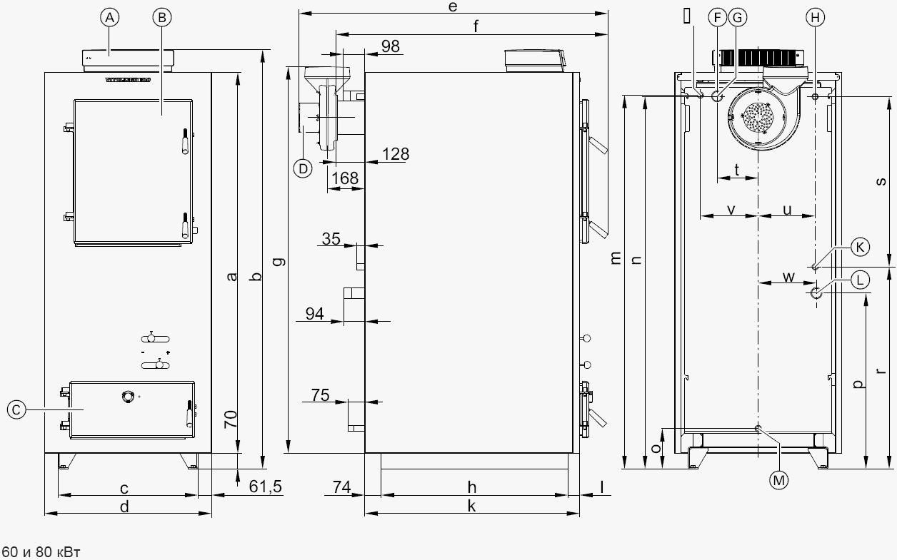 Схема пиролизного котла для отопления.