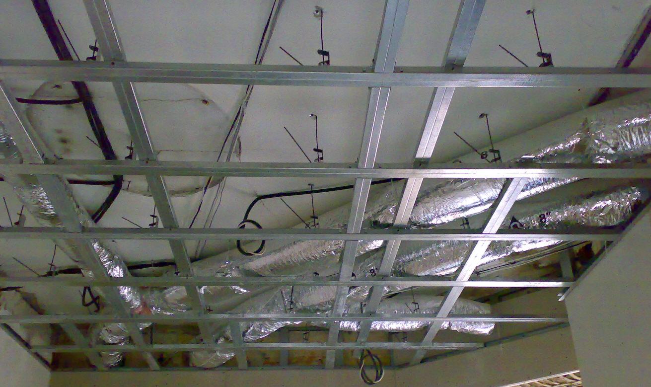 вентиляция монтаж потолка из гипсокартона на потолок