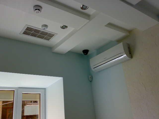 гипсокартонные потолки фото кондиционеры вентиляция