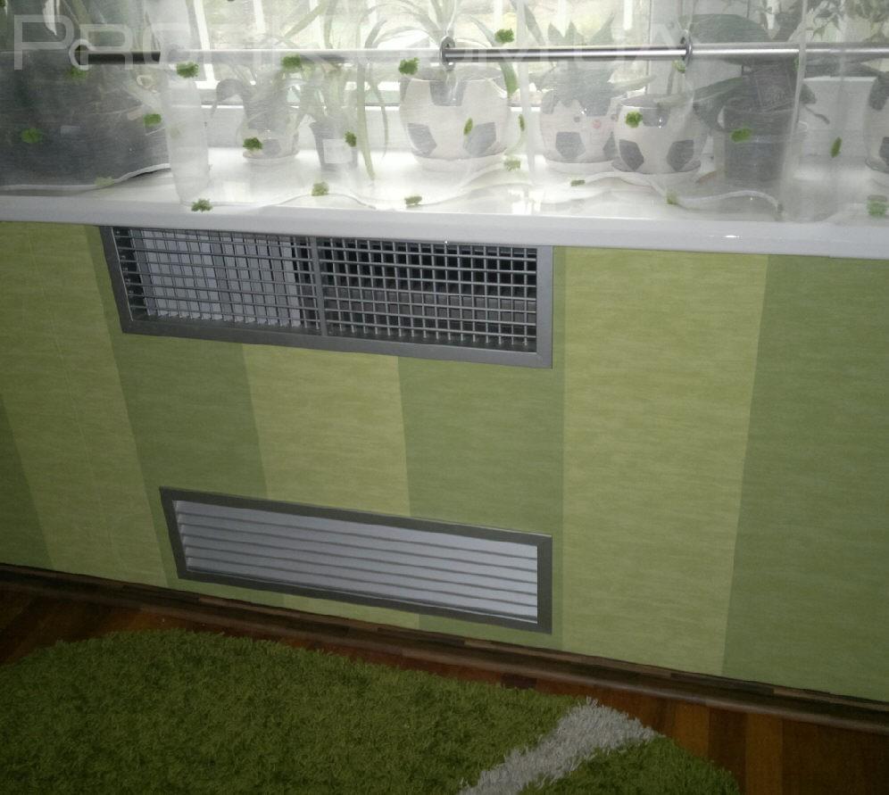 декоративные решётки на радиаторы встроенные конвекторы фанкойлы