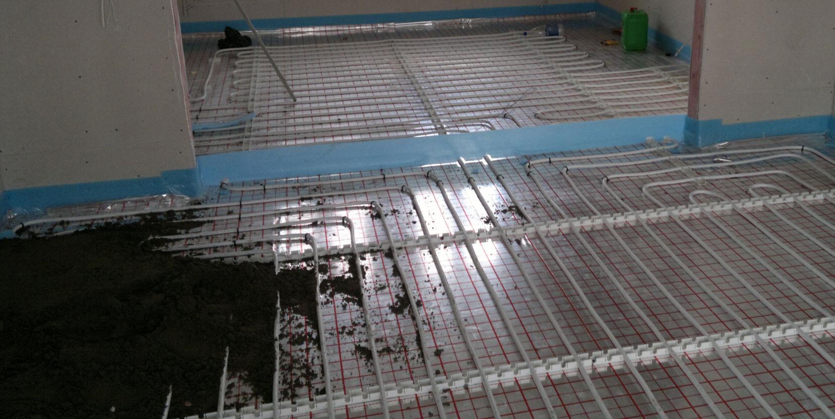 Стяжка под тёплый пол водяной