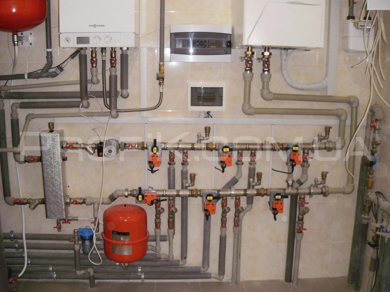skhema otopleniia elektrichestvom i gazom